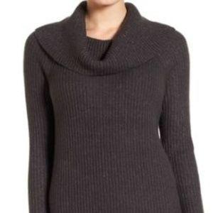NWOT Halogen soft cowl neck sweater dress ribbed